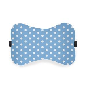 Mavi Puantiye Ortopedik Boyun Yastığı Silikon