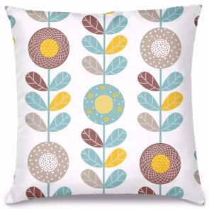Bahar Çiçekleri Tasarım Kırlent Yastık 40x40 cm