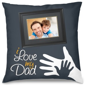 I Love My Dad Tasarım Kırlent Yastık 40x40 cm