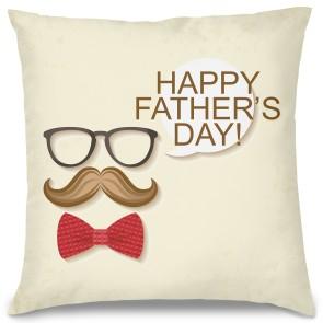Happy Father's Day Tasarım Kırlent Yastık 40x40 cm