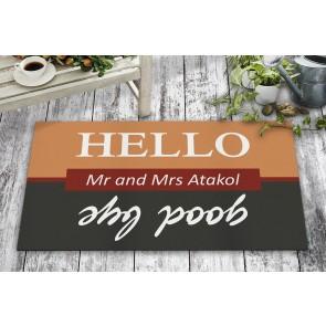 Hello Good Bye Tasarım Kapı Önü ve Ev İçi Paspas 45x75 cm