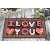 I Love You Çikolata Tasarım Kapı Önü ve Ev İçi Paspas 45x75 cm