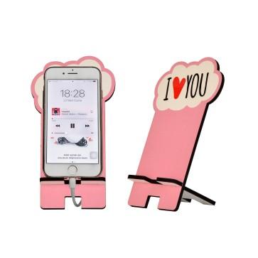 I Love You Tasarım Ahşap Telefon Standı
