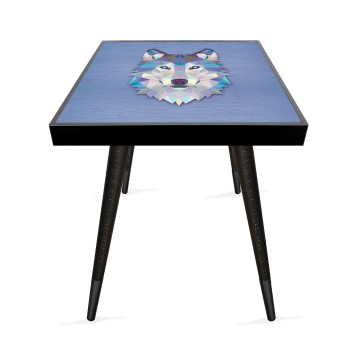 Kristal Konsept 1 Tasarım Modern Ahşap Yan Sehpa Kare 45x45 cm