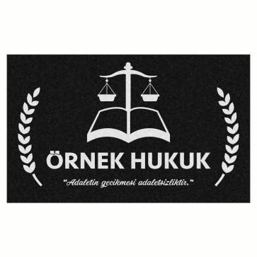 Kişiye Özel Hukuk Siyah Tasarım Kapı Önü ve Ev İçi Paspas 45x75 cm