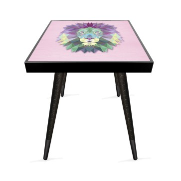 Kristal Konsept 3 Tasarım Modern Ahşap Yan Sehpa Kare 45x45 cm