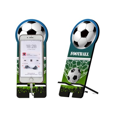 Futbol Tasarım Ahşap Telefon Standı