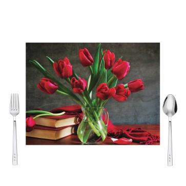 Vazoda Güller Tasarım Amerikan Servis 40x30 cm
