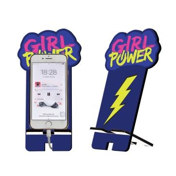 Girl Power Tasarım Ahşap Telefon Standı