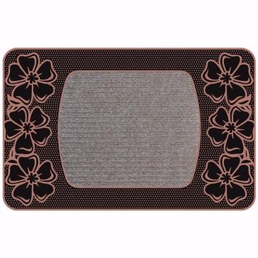 Flower Kapı Önü Paspas Halılı 45x70 cm Bronz