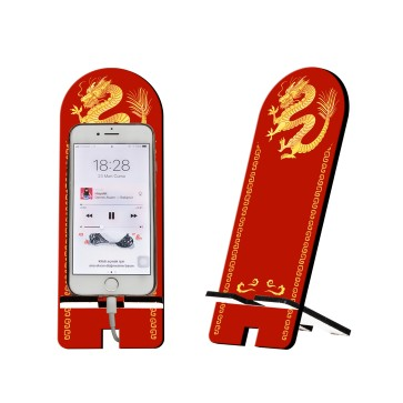 Ejderha Tasarım Ahşap Telefon Standı