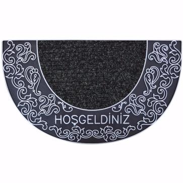 Sultan Kapı Önü Paspas Yarımay Halılı 40x70 cm Gümüş