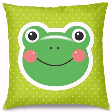 Kurbağa Tasarım Kırlent Yastık 40x40 cm