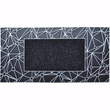 Network Kapı Önü Paspas 40x80 cm Gümüş