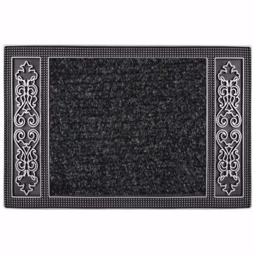 Topkapı Kapı Önü Paspas Halılı 45x70 cm Gümüş