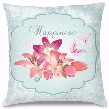 Happiness Tasarım Kırlent Yastık 40x40 cm