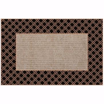 Rattan Kapı Önü Paspas Halılı 45x70 cm Bronz