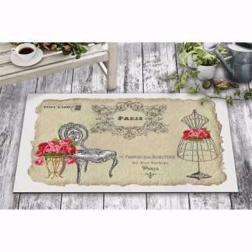 Paris Post Card Kapı Önü ve Ev İçi Paspas 45x75 cm