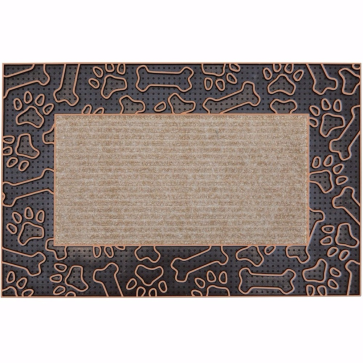 Patiler Kapı Önü Paspas Halılı 45x70 cm Bronz