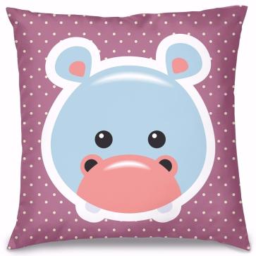 Hipopotam Tasarım Kırlent Yastık 40x40 cm