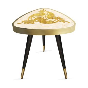 Altın Konsept 3 Tasarım Modern Ahşap Yan Sehpa Üçgen 45Ø