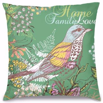 Yeşil Kuş Home Tasarım Kırlent Yastık 40x40 cm