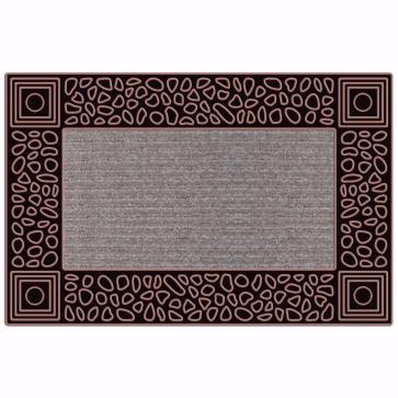 Çakıl Kapı Önü Paspas Halılı 45x70 cm Bronz