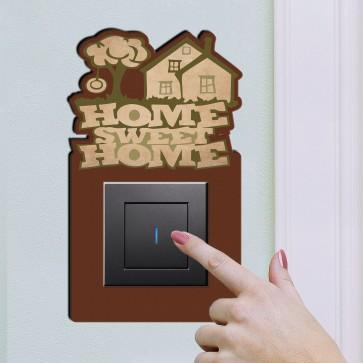 Home Sweet Home Tasarım Ahşap Anahtar Priz Çerçevesi