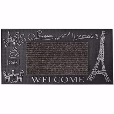 Paris Kapı Önü Paspas 40x80 cm Gümüş
