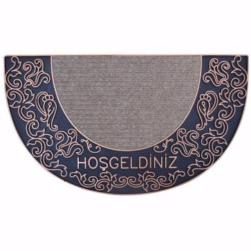 Sultan Kapı Önü Paspas Yarımay Halılı 40x70 cm Bronz