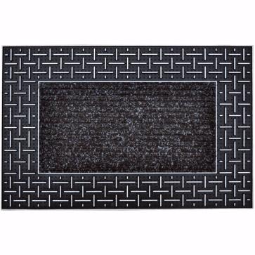 Dalga Kapı Önü Paspas 45x70 cm Gümüş