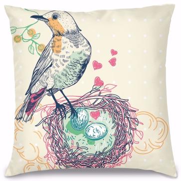 Aşık Kuş Tasarım Kırlent Yastık 40x40 cm