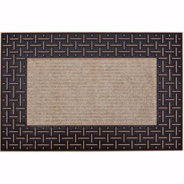 Dalga Kapı Önü Paspas Halılı 45x70 cm Bronz