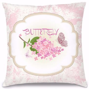Butterfly Tasarım Kırlent Yastık 40x40 cm
