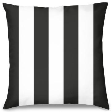Siyah Beyaz Tasarım Kırlent Yastık 40x40 cm