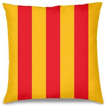 Sarı Kırmızı Tasarım Kırlent Yastık 40x40 cm