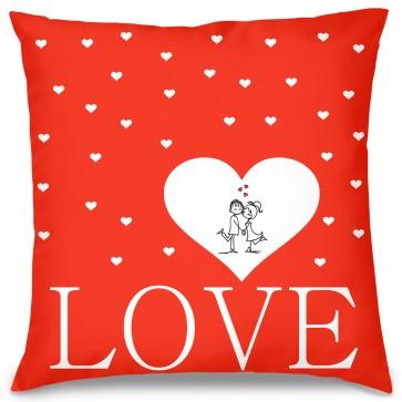 Love Kalp Tasarım Kırlent Yastık 40x40 cm
