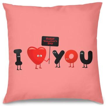 I Love You Tasarım Kırlent Yastık 40x40 cm