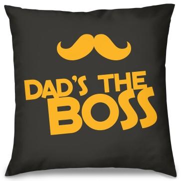 Dad's The Boss Tasarım Kırlent Yastık 40x40 cm