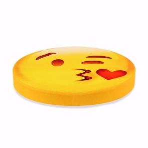Öpücük Emoji Tasarım Daire Minder Ø40