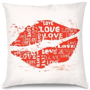 Love Öpücük Tasarım Kırlent Yastık 40x40 cm