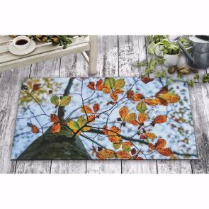 Sonbahar Yapraklar Tasarım Kapı Önü ve Ev İçi Paspas 45x75 cm