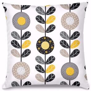 Koyu Bahar Çiçekleri Tasarım Kırlent Yastık 40x40 cm