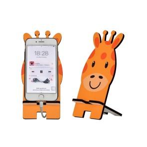 Zürafa Tasarım Ahşap Telefon Standı
