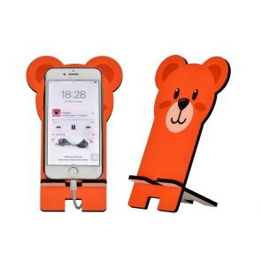 Ayıcık Tasarım Ahşap Telefon Standı