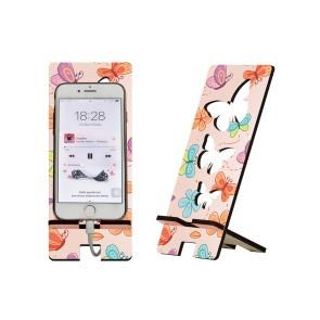 Kelebek Tasarım Ahşap Telefon Standı