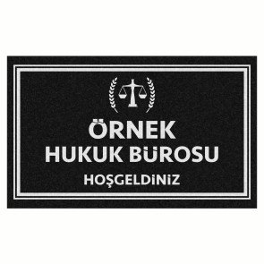 Avukat Tasarım Kapı Önü ve Ev İçi Paspas 45x75 cm