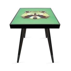 Kristal Konsept 2 Tasarım Modern Ahşap Yan Sehpa Kare 45x45 cm