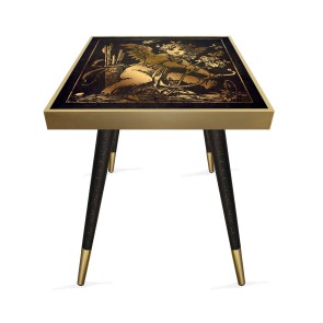 Melek 3 Tasarım Modern Ahşap Yan Sehpa Kare 45x45 cm