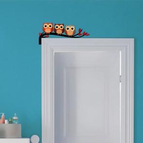 Baykuş Tasarım Ahşap Dekoratif Kapı Süsü